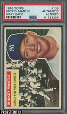 1956 Topps Gray Back #135 Mickey Mantle Yankees HOF PSA AUTHENTIC