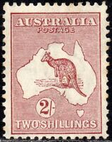 1924 Australia Sg 74 2s maroon (Die IIB) Mounted Mint - staining to rear