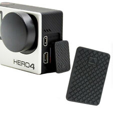 USB Side Door Cover Replacement Case Cap Part for GoPro Hero 3 3+ 4 Silver/Black