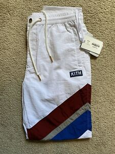 Kith USA Track Pants White in Size M - Brand New Olympics Release 2020