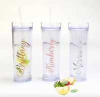 Personalized Vinyl Acrylic Skinny Tumbler Cup