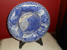ROWLAND & MARSELLUS The Old Man Of The Mountain Flow Blue STAFFORDSHIRE Plate