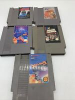 Lot of 5 Games Including Double Dribble Basketball - NES Nintendo Game