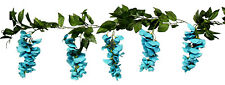 Wisteria Garland Turquoise Teal Aqua Silk Wedding Flowers Arch Gazebo Decoration