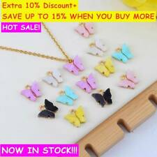 10Pc Butterfly Pendant Acrylic Charms Lovely DIY Animal Pendant Handmade Jewelry