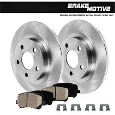 Rear Discs Brake Rotors and Ceramic Pads For Land Rover Discovery 1999-2004 Slot