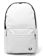 FRED PERRY 2019 Twin Tipped White Backpack Man Bag LAPTOP Work Travel Gym SALE!