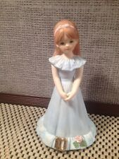 Enesco Growing Up Happy Birthday Girls 10 Ceramic Porcelain Figure Figurine Doll