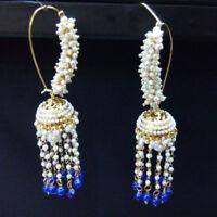 Ethnic Bollywood Goldplated Jhumka Earring Set Traditional Wedding Jewelry-