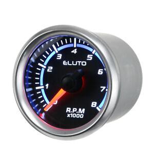 2'' 52mm Car Tachometer Tacho Gauge Meter Blue LED 0-8000 RPM Meter Rev Counter