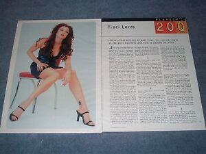 2001 Interview Article with Actress Traci Lords