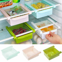 Hot Kitchen Slide Fridge Freezer Space Saver Organizer Storage Rack Shelf Holder