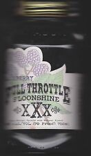 COLLECTIBLE EMPTY FULL THROTTLE MOONSHINE MASON JAR  TENNESSEE SHINE BLACKBERRY