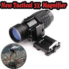 3X Magnifier Scope Sight +Flip-to-Side 20mm Mount  Reflex Monocular Scope Sights