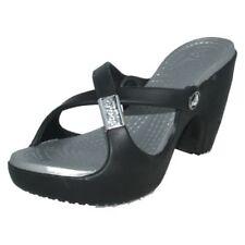 Block Heel Slip On Casual High (3 to 4 1/4) Heel Height Sandals for Women