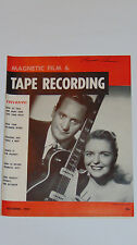 VINTAGE 1954 LES PAUL & MARY FORD ON COVER OF TAPE RECORDING MAGAZINE! PICTURES!