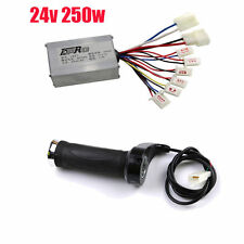 Scooter 24V 250W Motor Brushed Speed Controller Throttle Twist Grip E-Bike Razor