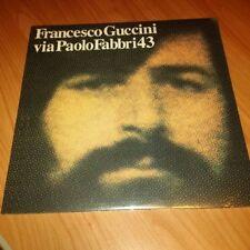 LP FRANCESCO GUCCINI VIA PAOLO FABBRI 43 COPIA 586/1000 ITALY PS 2013 SIGILLATO