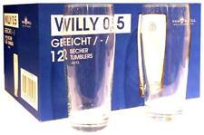 12 Stück Willy Willibecher 0,5l mit Eichstrich Willybecher Biergläser Bierglas