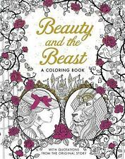 BRAND NEW ~ Beauty and the Beast ~ Classic Coloring Book w/ Story Quotes New