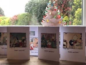 Rupert Bear Handmade Individual 'Christmas' Cards&Env X12 1950's Real Pictures