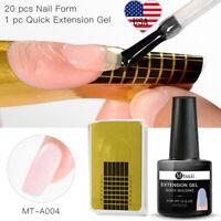 2Pcs/set MTSSII Poly Extension Soak Off UV Gel Nail Polish Varnish Form Tool Kit