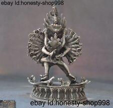 Tibet Tibetan silver Hevajra 1000 arms Yamantaka Hayagriva Buddha hevajra Statue