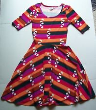 Luluroe Nicole Dress Geometric Pattern Size XS Extra Small