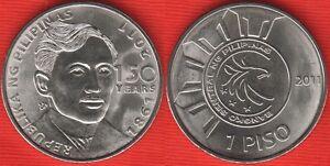 """Philippines 1 piso 2011 km#284 """"Jose Rizal"""" UNC"""