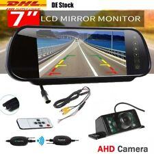 "7"" LCD Auto Monitor Rückfahrkamera Set LKW Bus Funk Kabellos Rückseiten Kamera"