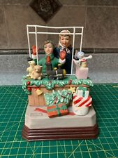 "Norman Rockwell ""Toy Land"" Figurine Music Box 1986 Museum Collections"