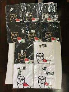 OVO OG Owl Tee Cedar of Lebanon Black White Gold October's Very Own Drake