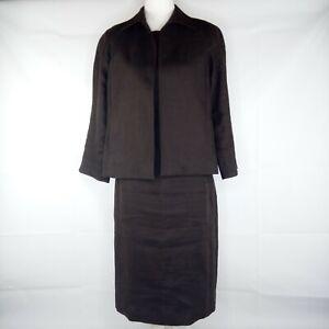 Talbots Dress Suit Women Size 6 Brown