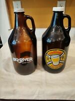 Vintage Beer Brewery Collectible Bottles Empty 64 FL Oz Set of Two Chattanooga