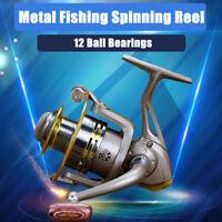 GS1000-7000 12 Ball Bearing Metal Spool Folding Arm Spinning Fishing UK