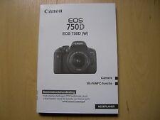 Canon EOS 750D Bedienungsanleitung INLEIDING NEDERLANDS