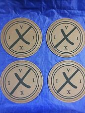 """Operation Neptune Spear CIA Seal Team 6 STVI 2 May 2011 UBL 4"""" Brown Coasters"""