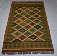 Traditional Jute Wool Natural Multi Color Rectangle Living Area Rug 5x8 Feet