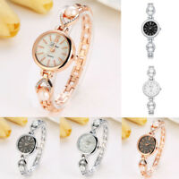 Ladies Womens Watch Bracelet Stainless Steel Crystal Pearl Analog Quartz Watch