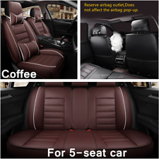 Deluxe Edition Universal Car Seat Cover Full Set Front&Rear Seat Back Protector