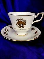Royal Tuscan England 100% Bone China Tea Cup And Saucer Gold Decor