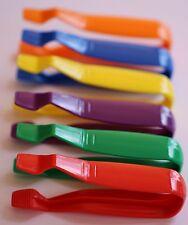 6 x Jumbo Tweezers Kids Easy Grip Plastic Free Post