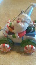 1 candy hallmark santa in car christmas ornaments