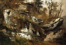 Oil painting Reynolda House of American Art beautiful landscape free shipping