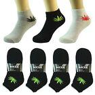 3 6 12 Pair Ankle/Quarter Crew Mens Socks Cotton low cut Size 9-11 Sport Leaf