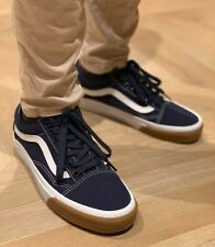 fbfe2963e3 Vans OLD SKOOL CANVAS SKATE Shoes Size Women s 8.5 GUM BUMPER   DRESS BLUES