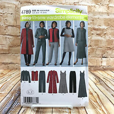 Simplicity 4789 Womens Plus Size Pants Vest Jacket Jumper Sz 10 18 Uncut Pattern