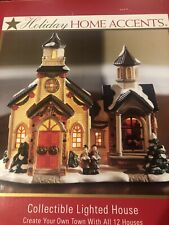 """Holiday Collectible Lighted House """"Church�"""