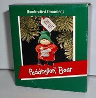 Hallmark Keepsake Christmas Ornament 1989 PADDINGTON BEAR  H9