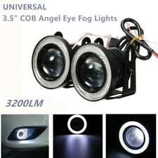 3.5IN LED Car Round Fog Light White Angel Eyes Standlichtringe Driving Head Lamp